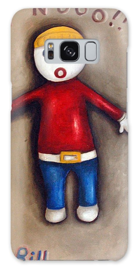 Mr.bill Galaxy S8 Case featuring the painting Mr. Bill by Leah Saulnier The Painting Maniac