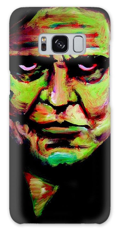 Portrait Galaxy Case featuring the painting Mr. Cash by Jason Reinhardt
