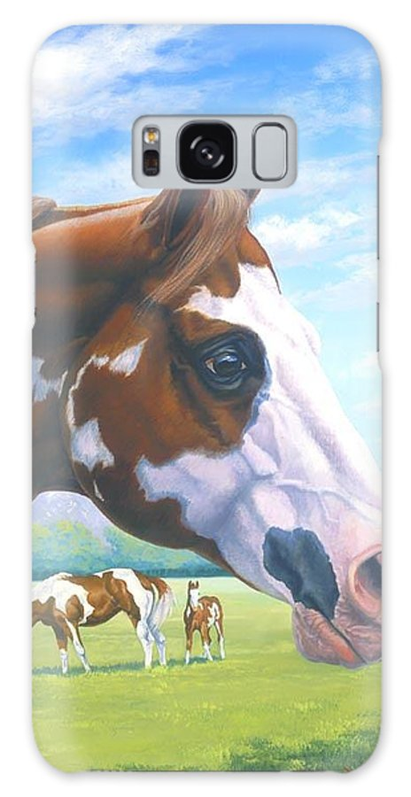 Paint Horse Galaxy S8 Case featuring the painting Mr. Norfleets Legacy by Howard Dubois