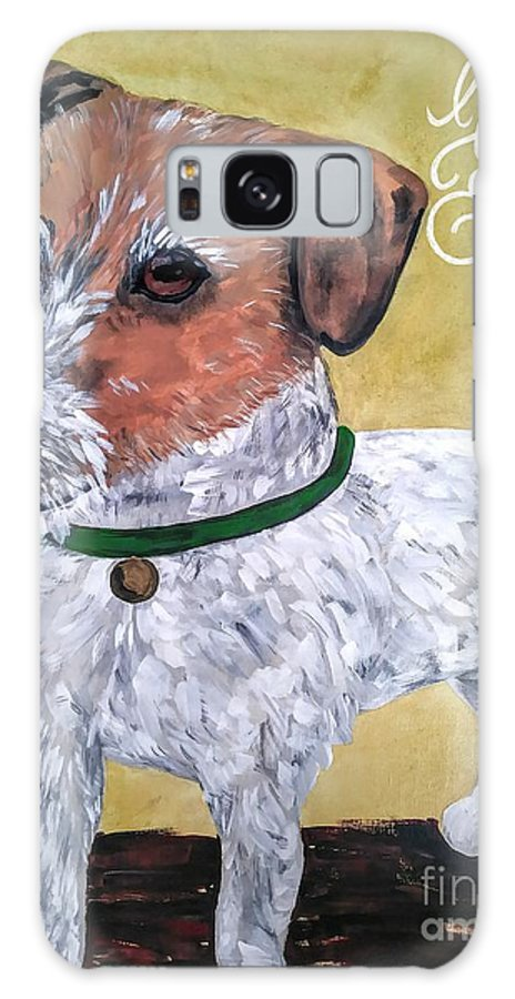 Dogs Galaxy S8 Case featuring the painting Mr. R. Terrier by Reina Resto