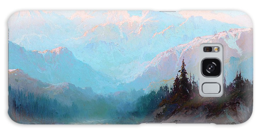 Mckinley Galaxy S8 Case featuring the painting Mt. Mckinley, Alaska by Sydney Mortimer Laurence