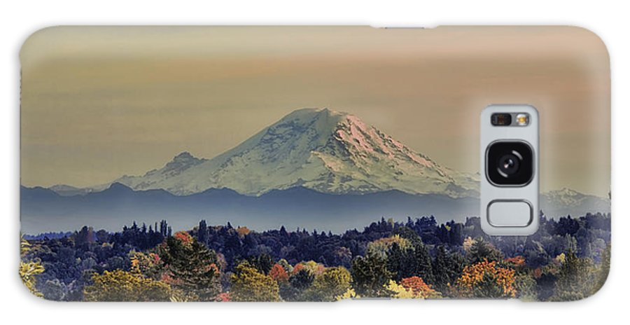 Panoramic Galaxy S8 Case featuring the photograph Mt Rainer Fall Color Rising by James Heckt