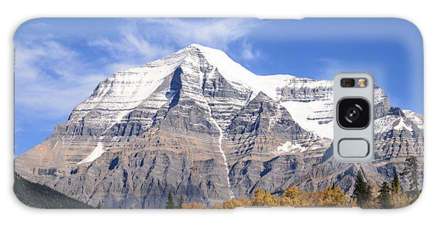 Rocky Mountain Galaxy S8 Case featuring the photograph Mt. Robson- Canada's Tallest Peak by Tiffany Vest