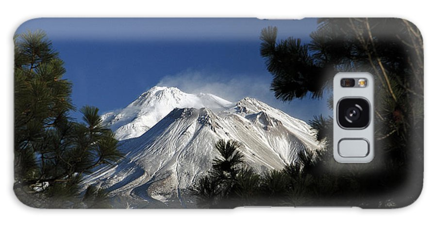 Mountain Galaxy S8 Case featuring the photograph Mt Shasta California Through Trees by Marland Howard