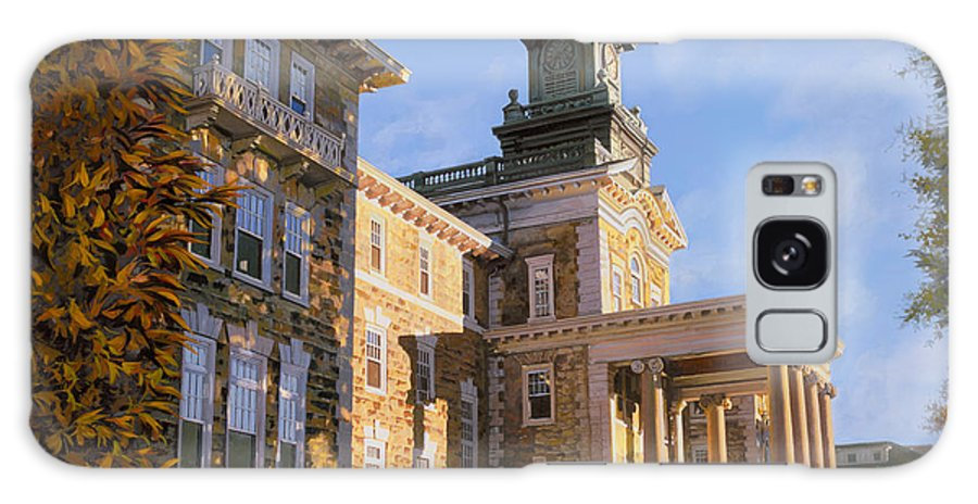 New Jersey Galaxy Case featuring the painting Mt St.mary Academy by Guido Borelli