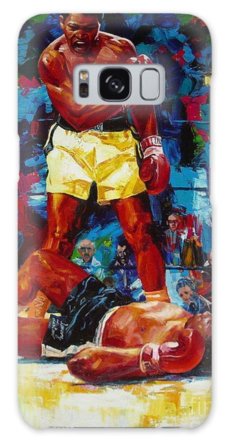 Ignatenko Galaxy Case featuring the painting Muhammad Ali by Sergey Ignatenko