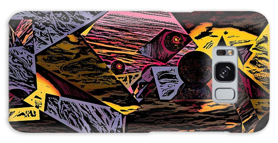 Galaxy Case featuring the digital art Multiverse II by David Lane