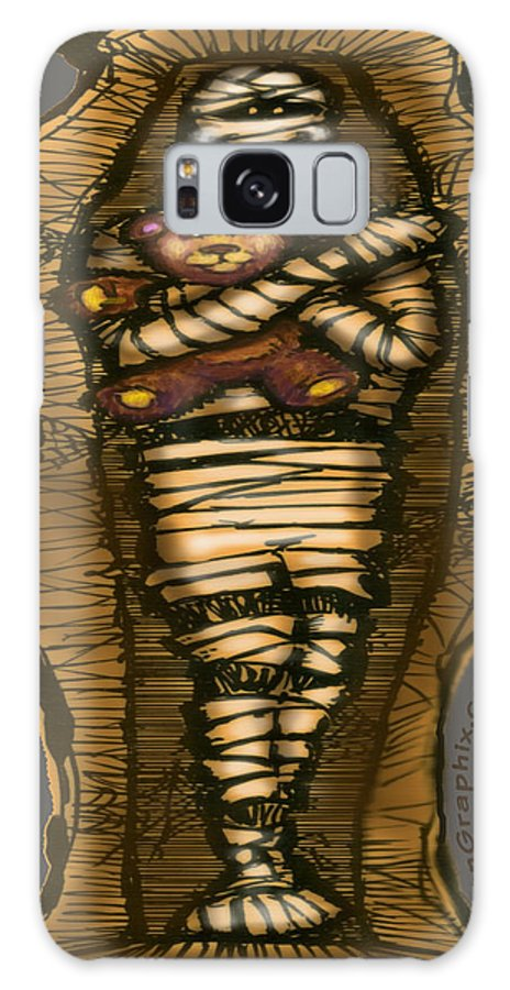 Halloween Galaxy S8 Case featuring the greeting card Mummy And Teddy by Kevin Middleton