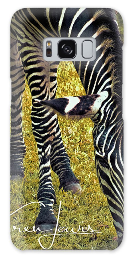 Zebra Galaxy S8 Case featuring the photograph Munch Time by Karen Lewis