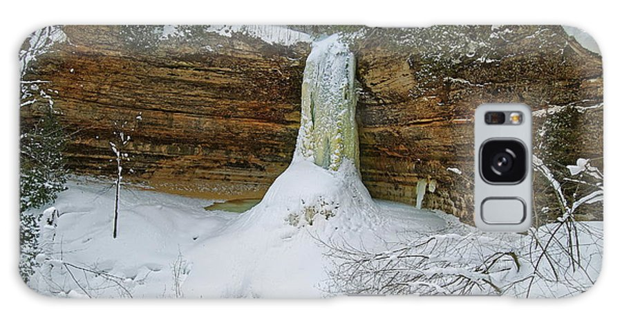 Landscape Galaxy S8 Case featuring the photograph Munising Falls Frozen by Michael Peychich