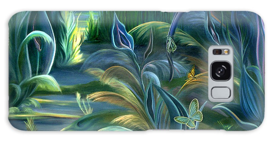 Mural Galaxy S8 Case featuring the painting Mural Insects Of Enchanted Stream by Nancy Griswold