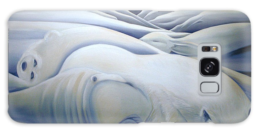 Mural Galaxy Case featuring the painting Mural Winters Embracing Crevice by Nancy Griswold