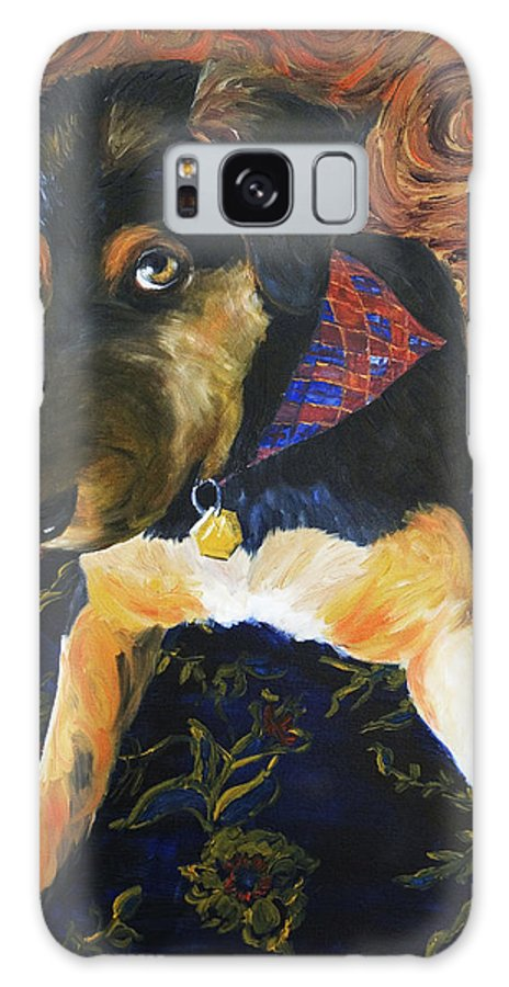 Dog Galaxy Case featuring the painting Murphy I by Nik Helbig