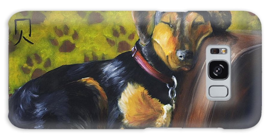Dog Galaxy Case featuring the painting Murphy Vi Sleeping by Nik Helbig