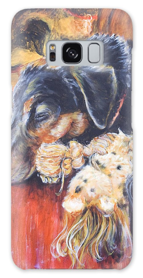 Dog Galaxy Case featuring the painting Murphy VIII by Nik Helbig