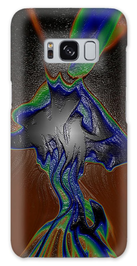 Abstract Galaxy S8 Case featuring the digital art Mushroom Explosion by Joshua Sunday