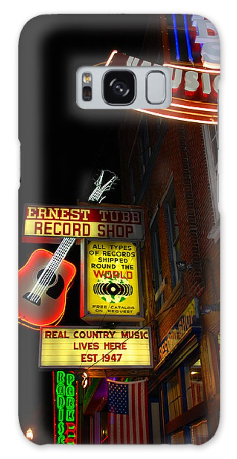 Nashville Galaxy S8 Case featuring the photograph Music City Nashville by Susanne Van Hulst
