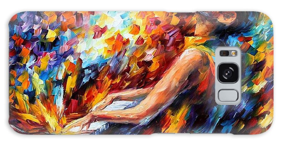 Afremov Galaxy S8 Case featuring the painting Music Fight by Leonid Afremov