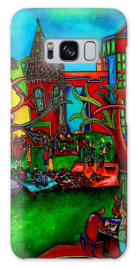 San Antonio Galaxy S8 Case featuring the painting Music In The Park by Patti Schermerhorn