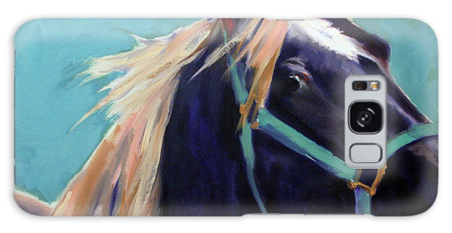 Horse Painting Galaxy S8 Case featuring the painting Mustang Sally by Meridith Martens