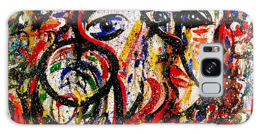 Free Expressionism Galaxy S8 Case featuring the painting Mutual Admiration by Natalie Holland