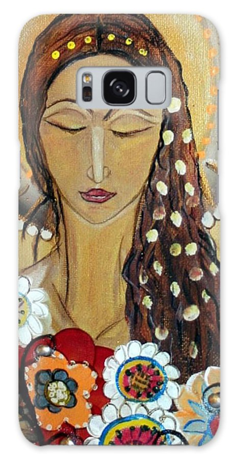 Art Galaxy S8 Case featuring the painting My Angel Modern Icon by Luiza Vizoli