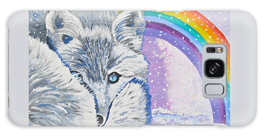 White Fox Galaxy S8 Case featuring the painting My Artic Fox by Phyllis Kaltenbach