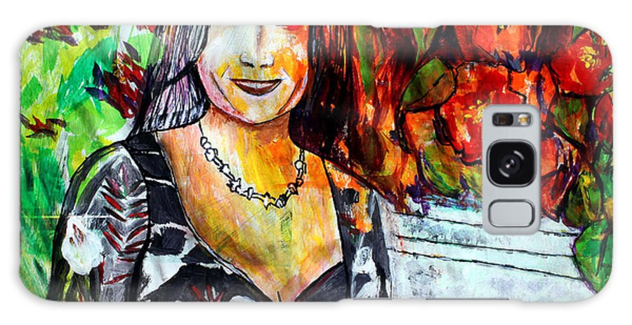 Cousin Galaxy S8 Case featuring the painting My Cousin Regina by Pilar Martinez-Byrne