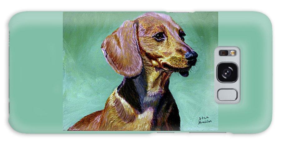 Daschund Galaxy S8 Case featuring the painting My Daschund by Stan Hamilton