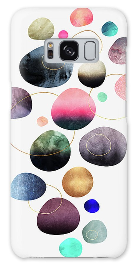 Graphic Galaxy Case featuring the digital art My Favorite Pebbles by Elisabeth Fredriksson