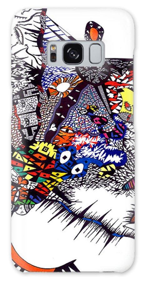 Feelings Galaxy Case featuring the painting My Feelings by Safak Tulga
