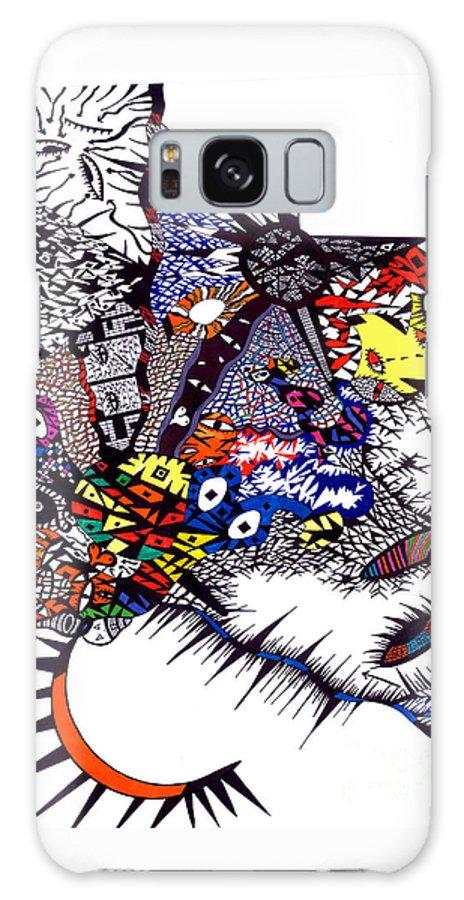 Feelings Galaxy S8 Case featuring the painting My Feelings by Safak Tulga