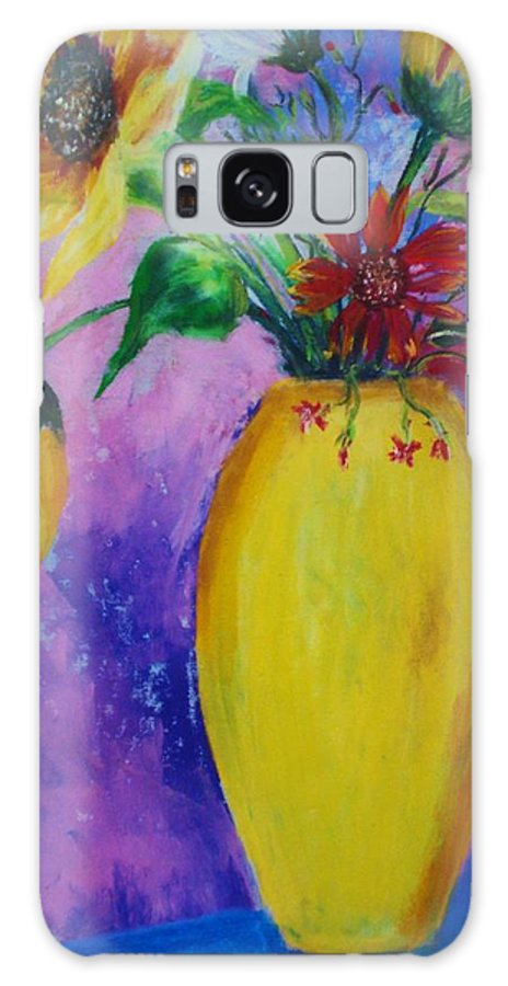 Sunflowers Galaxy S8 Case featuring the painting My Flowers by Melinda Etzold