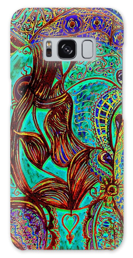 Woman Galaxy S8 Case featuring the painting My Gorgeous Cousin by Natalie Holland