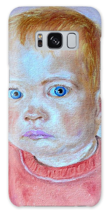 Leonie Galaxy S8 Case featuring the painting My Granddaughter Leonie by Helmut Rottler