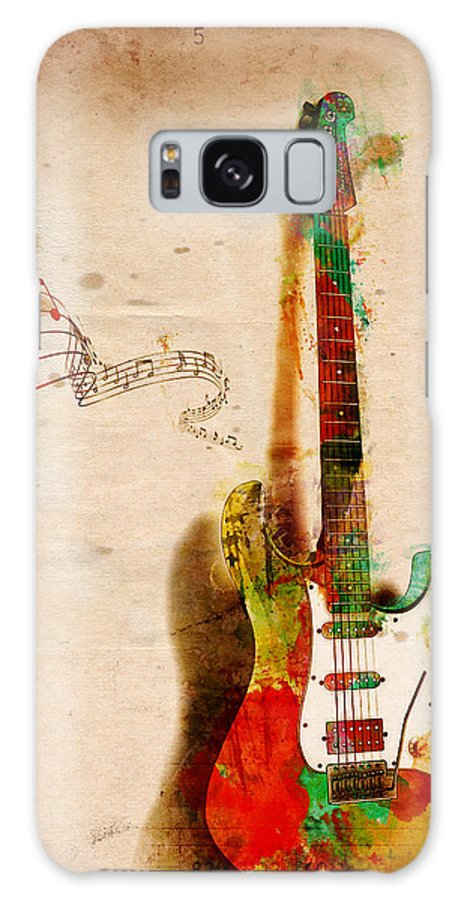 Guitar Galaxy Case featuring the digital art My Guitar Can Sing by Nikki Smith