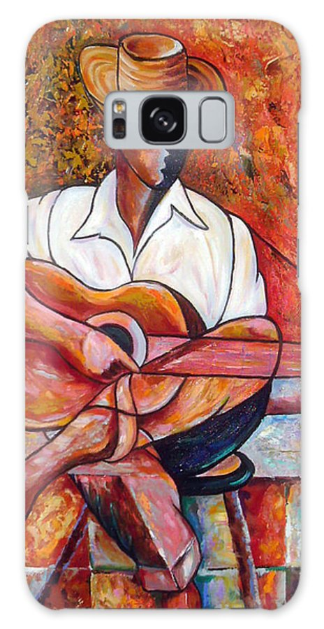 Cuba Art Galaxy S8 Case featuring the painting My Guitar by Jose Manuel Abraham