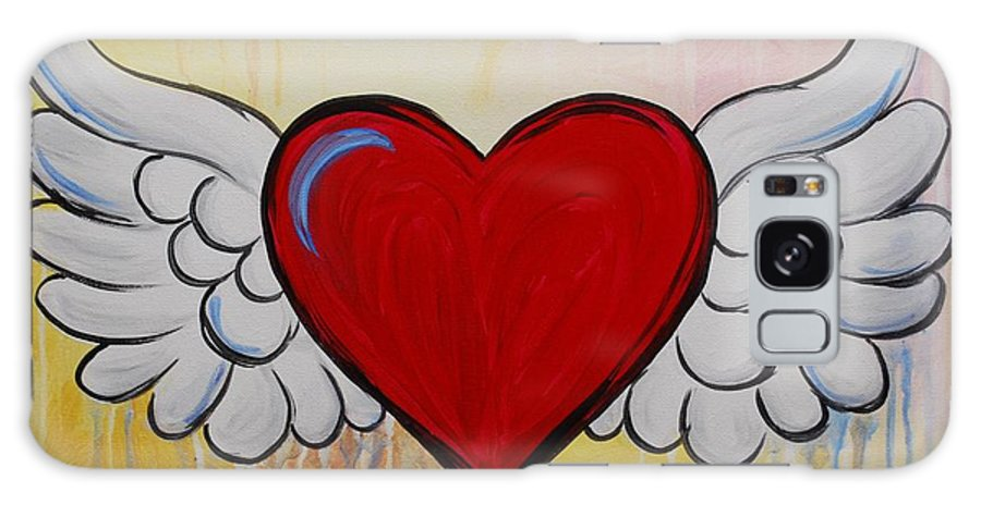 Heart Galaxy S8 Case featuring the painting My Heart Has Wings by Emily Page
