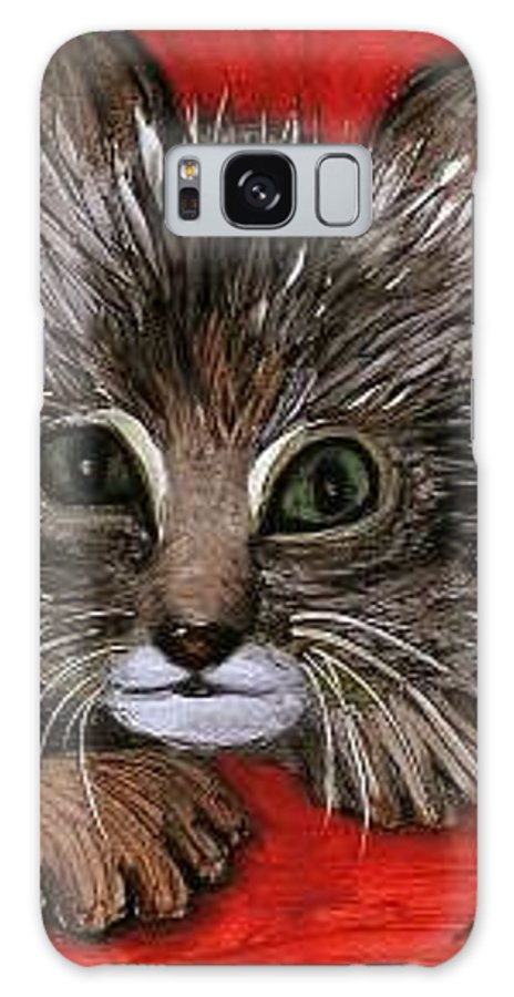 Very Curious And Beautiful Kittie Cat Galaxy S8 Case featuring the painting My Kittie Cat by Pilar Martinez-Byrne