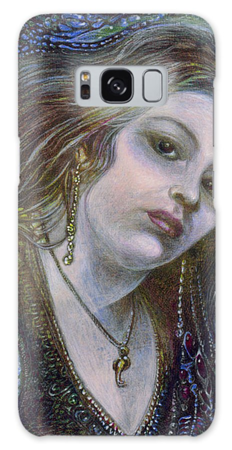 Fantasy Galaxy Case featuring the painting My Mermaid Christan by Otto Rapp