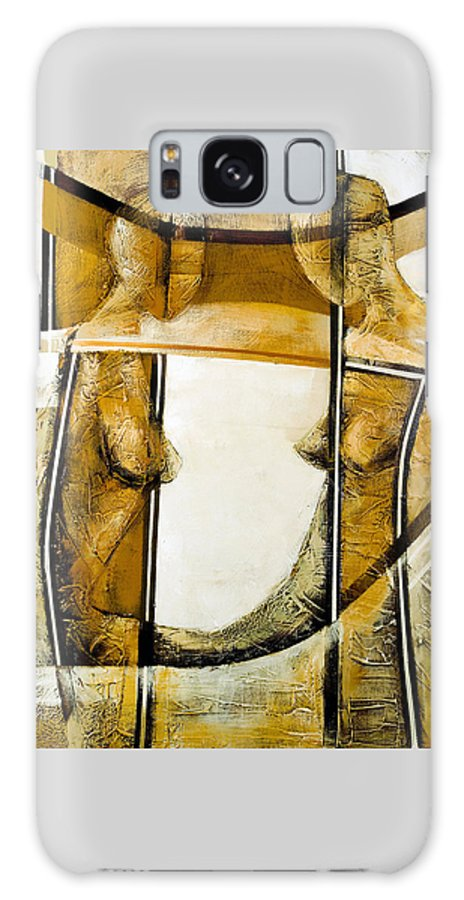 Figurative Abstract Galaxy Case featuring the painting My Mirror 2 by Milda Aleknaite