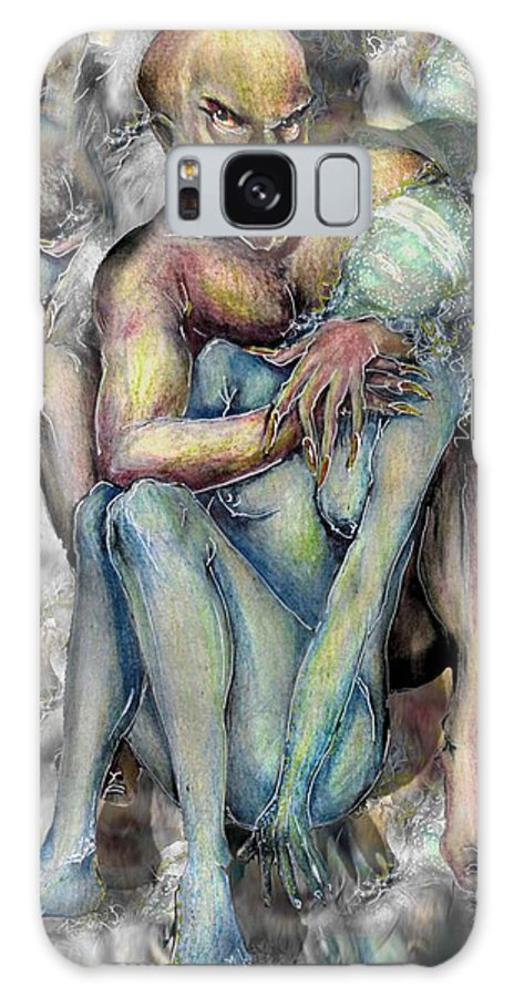 Demons Love Passion Control Posession Woman Lust Galaxy S8 Case featuring the mixed media My Precious by Veronica Jackson