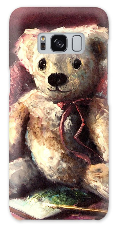 Bears Galaxy S8 Case featuring the painting My Teddy by Sally Seago
