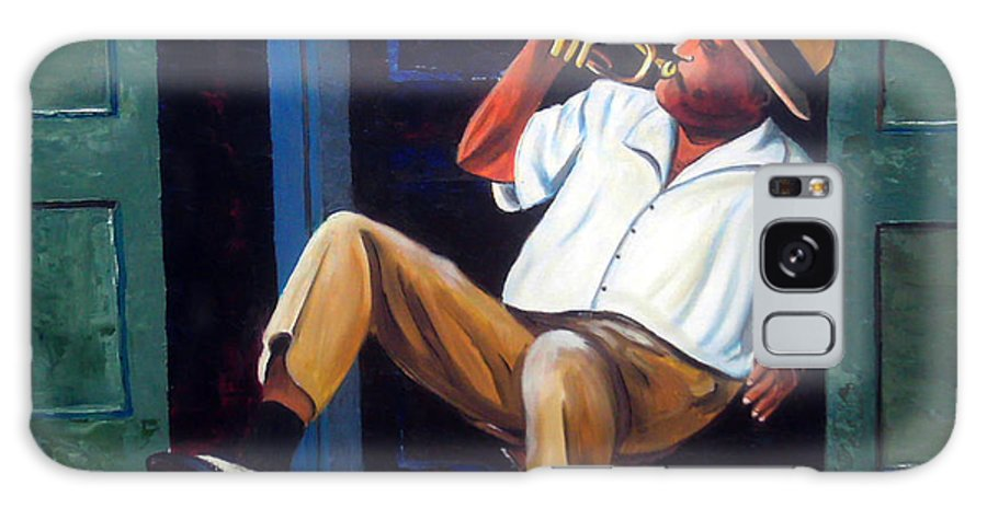 Cuba Art Galaxy S8 Case featuring the painting My trumpet by Jose Manuel Abraham