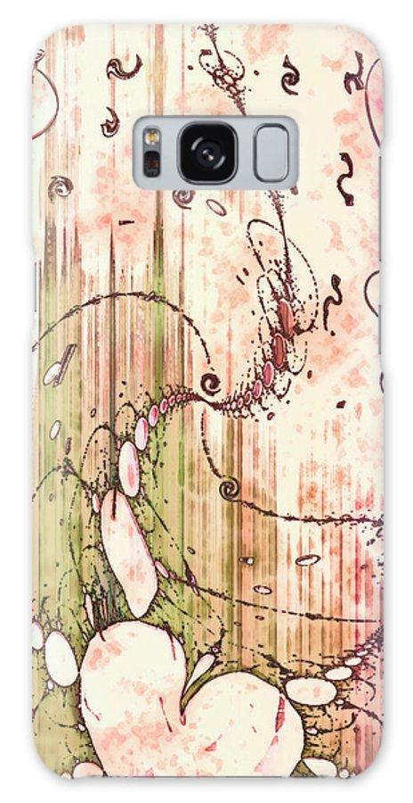 My Valentine Galaxy S8 Case featuring the digital art My Valentine by Linda Sannuti
