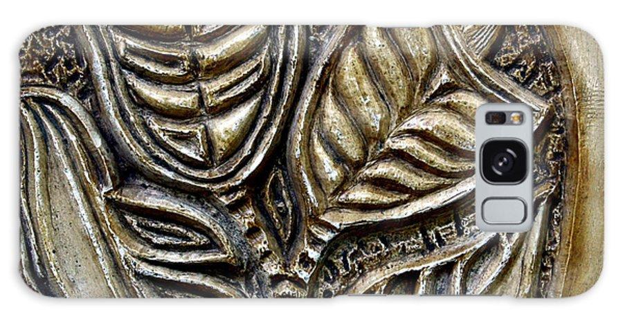 Vintaje Galaxy Case featuring the relief Vintaje Tile With Calas by Madalena Lobao-Tello