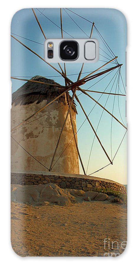 Beach Galaxy S8 Case featuring the photograph Mykonos Windmill by Joe Ng