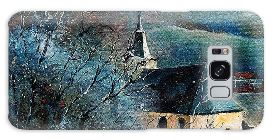 Tree Galaxy S8 Case featuring the painting Mysterious Chapel by Pol Ledent