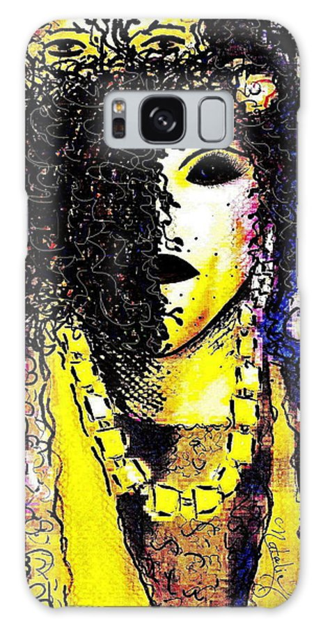 Woman Galaxy Case featuring the painting Mysterious Encounter by Natalie Holland