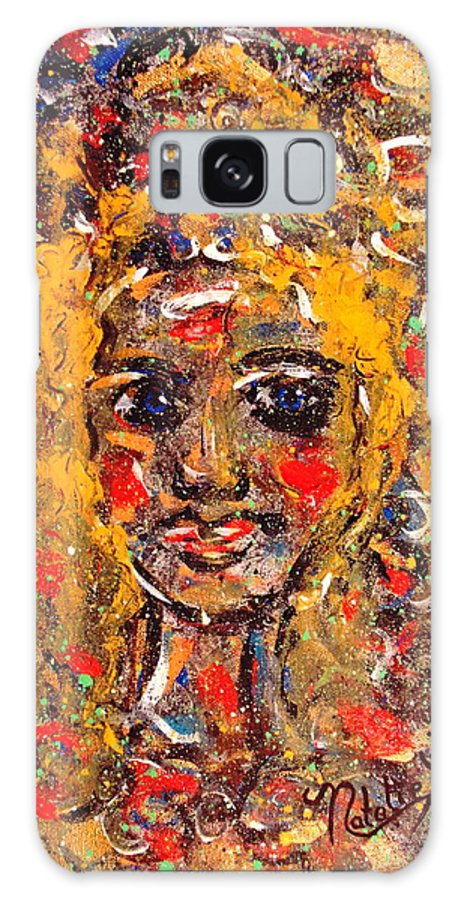 Impressionism Galaxy S8 Case featuring the painting Mysterious Eyes by Natalie Holland